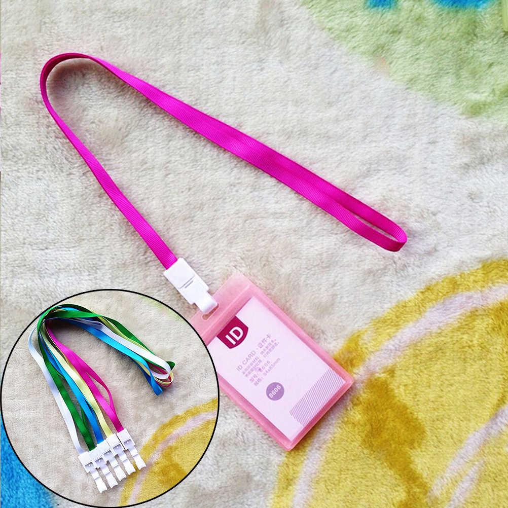 1 Cái PU Card Case Chủ Kẹo màu Xách Tay Chuỗi Thời Trang ID Xe Buýt Bản Sắc Huy Hiệu với Dây Buộc Porte Carte Tín Dụng