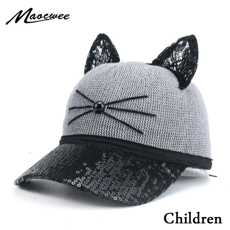 New Children Cartoon Cats Snapback kids Baseball Cap Hip Hop Cap Cartoon Sun Mesh Hat 50-54CM Boys and girls Bones 2-8 years old anime pocket monster flareon cosplay cap orange cartoon pikachu ladies dress pokemon go hat charm costume props baseball cap
