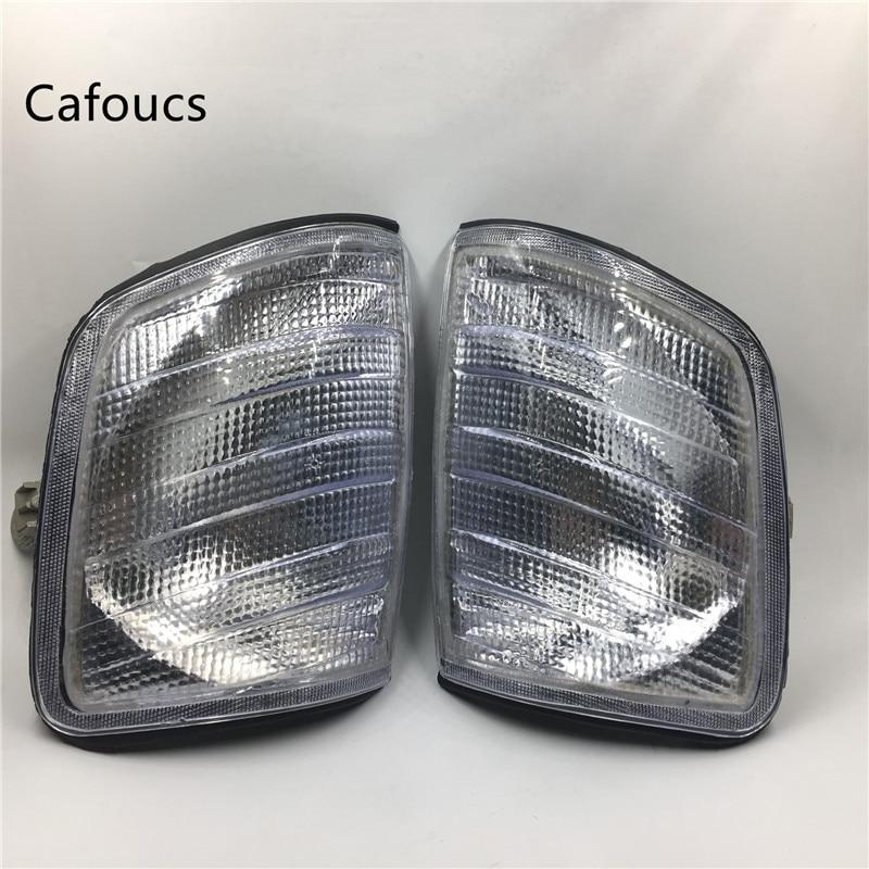 Cafoucs Clear Corner Lights Parking Lamps Fits For Mercedes Benz MB E-Class W124 E300 E320 E420 E500 300CE 300TE 1988-1995