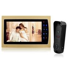 Homefong 7″ Touch Button Video Door Phone Intercom + 1200TVL CMOS 1/3 inch Rainproof IP65  Night Vision Camera  1 V1