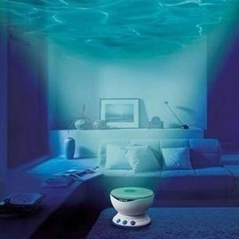 New Quality Home Decor Ocean Daren Waves Led Night Light Projector Sea Wave Ocean Projection Lamp With Speaker ocean wave led night mood light atmosphere lamp projector for kids room ceiling decor with eu plug