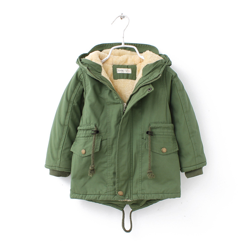 Autumn Winter children down & parkas European style boys girls Add Wool Warm Outerwear Color Green Blue Long sleeve hooded Coats нож morakniv robust длина лезвия 88 8мм