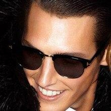REALSTAR Brand Style Sunglasses Men Half Designer Sun Glasses Frame Women 2018 Fashion Tom Eyewear Oculos Vintage Shades S185