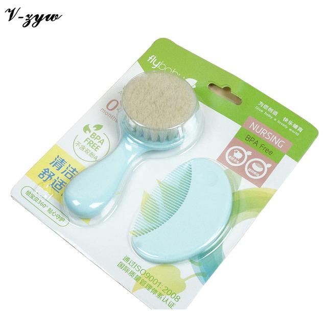 Nuevos Niños Set Cepillo de Cuidado de La Piel Suave de Plástico Libre de BPA Bebé Peines Cepillo de Masaje Para Bebés de La Muchacha GZ004