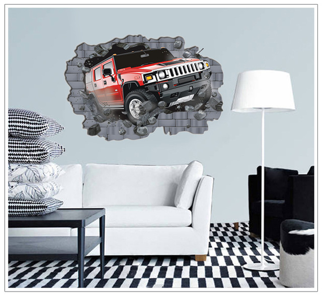 Aliexpress.com : Buy Removable Hummer off road Cars Wall Art ...