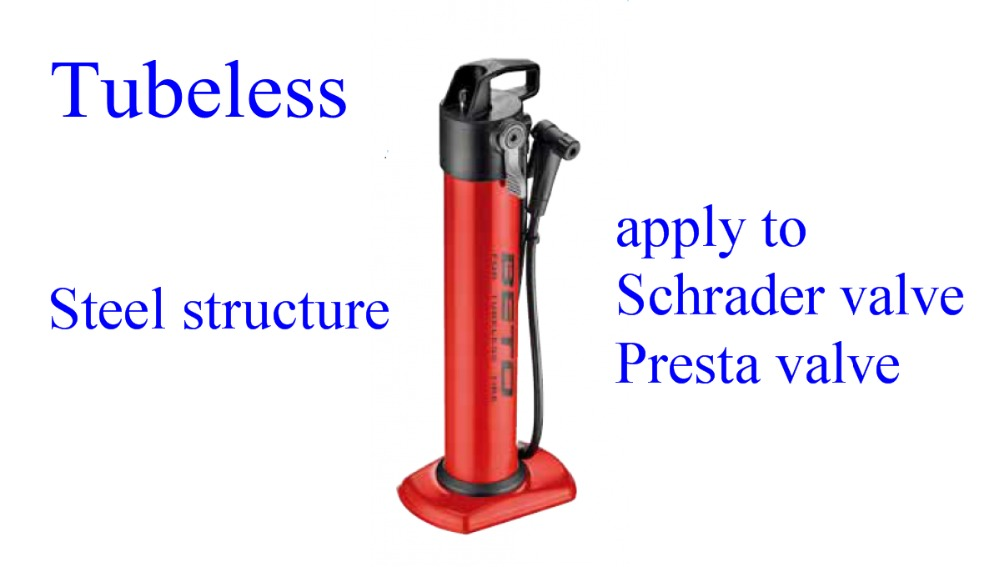 <font><b>BETO</b></font> Bike Tubeless JetAir <font><b>Pump</b></font> 5 second instant charge Steel structure apply to Schrader valve/Presta valve Bicycle Parts image