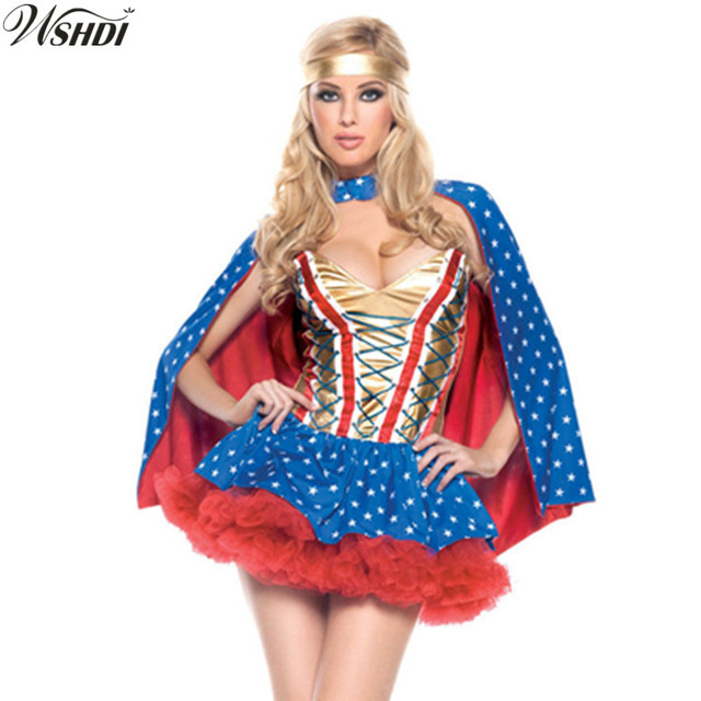 Dc Comics Wonder Woman Girls Sequin Costume