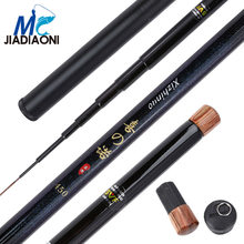 JIADIAONI 99% Carbom XINUO 3.6m/4.5m/5.4m/6.3m Fishing Rod Stream Hand Pole Fiber Casting Telescopic Fishing Rods Fishing Tackle