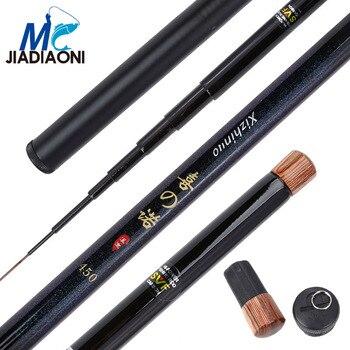 JIADIAONI 99% Carbom XINUO 3.6m/4.5m/5.4m/6.3m Fishing Rod Stream Hand Pole Fiber Casting Telescopic Fishing Rods Fishing Tackle фото