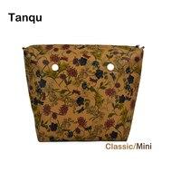 TANQU Flower PU Leather Inner Zipper Pocket Lining Waterproof Insert For Big Classic Mini Obag EVA