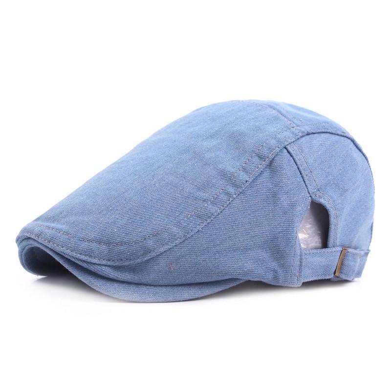 New Fashion Berets Hats Men Casquette Cap Classic Denim Spring Summer Boinas Women Beret Hats Outdoor Visors Sun Caps Ajustable
