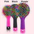 Korean Rainbow Volume Comb Magic Hair Brush Hair Salon Comb Rainbow Hairbrush Fashion Comb Anti-tangle Brush Massage