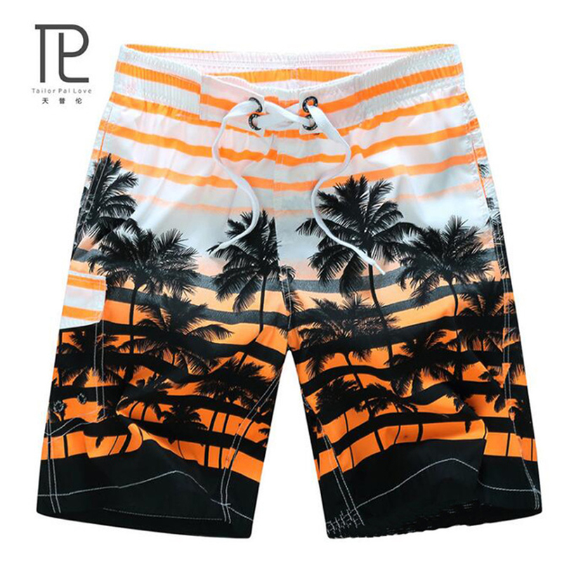 2018 Men's Beachwear Summer Board Shorts Quick Drying Swim Trunks with Elastic Waist for Running Training Workout Watersports