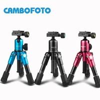 CAMBOFOTO M225+CK30 Portable Aluminum Tripod Compact Desktop Macro Mini Table Tripod with Ball Head for Sony Canon Nikon Camera