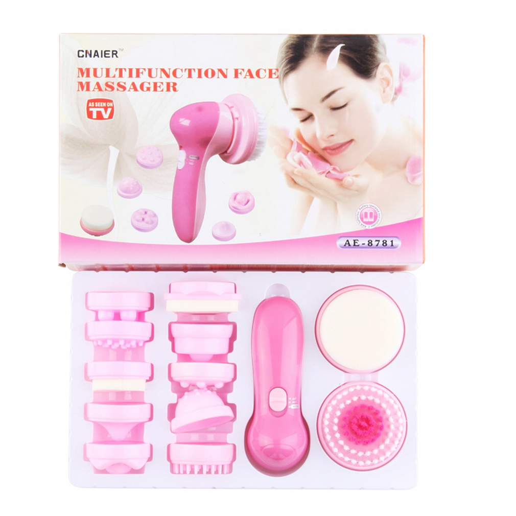 12 in 1 Multifunction Electrical Facial Cleansing Brush Face Body Massager Kit Hot Selling