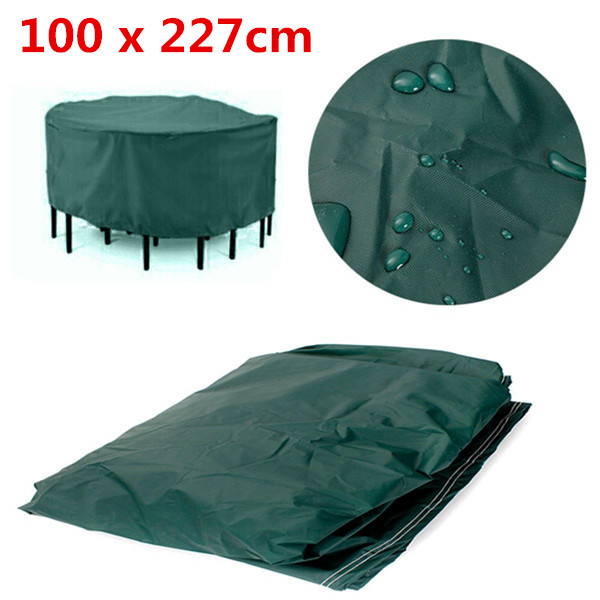 Good 100 X 227cm Durable Waterproof Outdoor Furniture Cover ROUND Patio Dining  Coffee Table Chair Shelter Breathable Large Cover