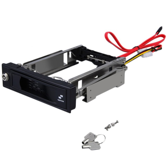 SATA HDD-Rom Internal Enclosure Mobile Rack For 3.5-Inch HDD with Key Lock