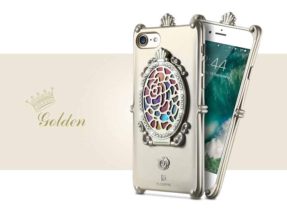 Makeup Mirror Case For iPhone 7 6 6S Plus Cases Glitter Rhinestone Kickstand Cover  (10)