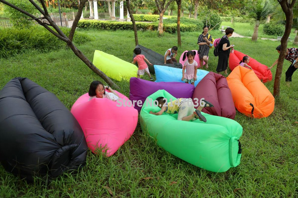 SECONDS POCKET DESIGN self – inflated air bean bag , outdoor waterproof beanbag chair, fast air sofa cushion