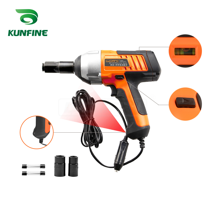 KUNFINE Electric Wrench Impact Socket Wrench DC12V 80W Hand Drill Installation Power Tools