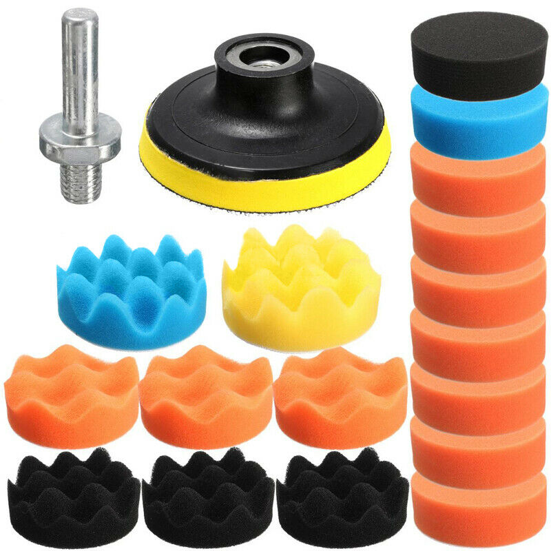 80mm Polishing pads Sponge Buffing Auto Cleaning Detailing 19pcs 3 Inch Kit Set Waxing Accessories Tools Supplies(China)