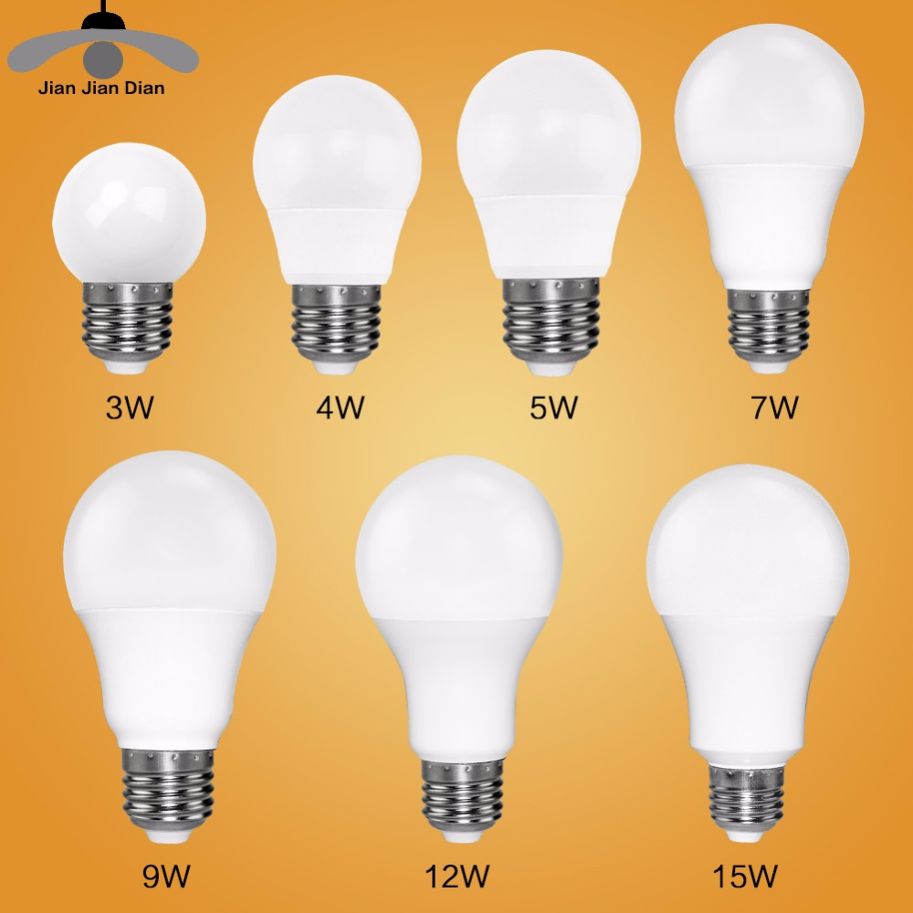 Led Bulb E27 E14 Bombillas Lamp cfl Ampoule Spotlight Light Lampada Diode 220V 110V SMD 2835 3W 5W 9W Home Decor Energy Saving 15 w e27 cool white 15leds 1w highpower led energy saving cfl bulb lamp spotlight 220v 240v