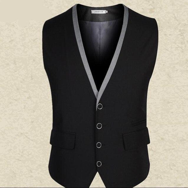 Mens Vest Business Casual Men's Waistcoat V-neck Male Chaleco And Colete Masculino business suit vest