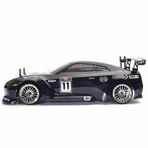 Image 2 - Samochód zdalnie sterowany HSP 4wd 1:10 na wyścigi drogowe dwie prędkości Drift pojazdu zabawki 4x4 Nitro Gas Power High Speed Hobby zdalnie sterowanym samochodowym