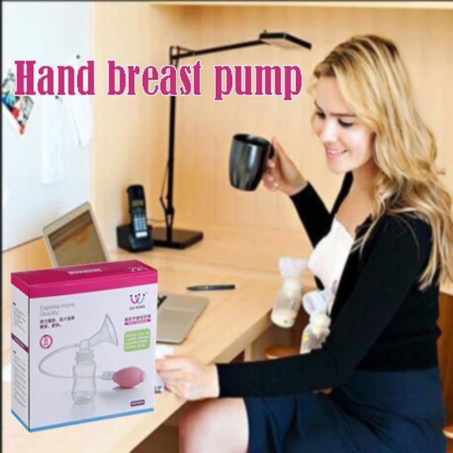 Bomba Manual Original de la Leche Materna Extractor de leche Manual de Alimentación Del Bebé de Silicona PP Libre de BPA Con Función de Extractores de leche Botella de Leche del Pezón