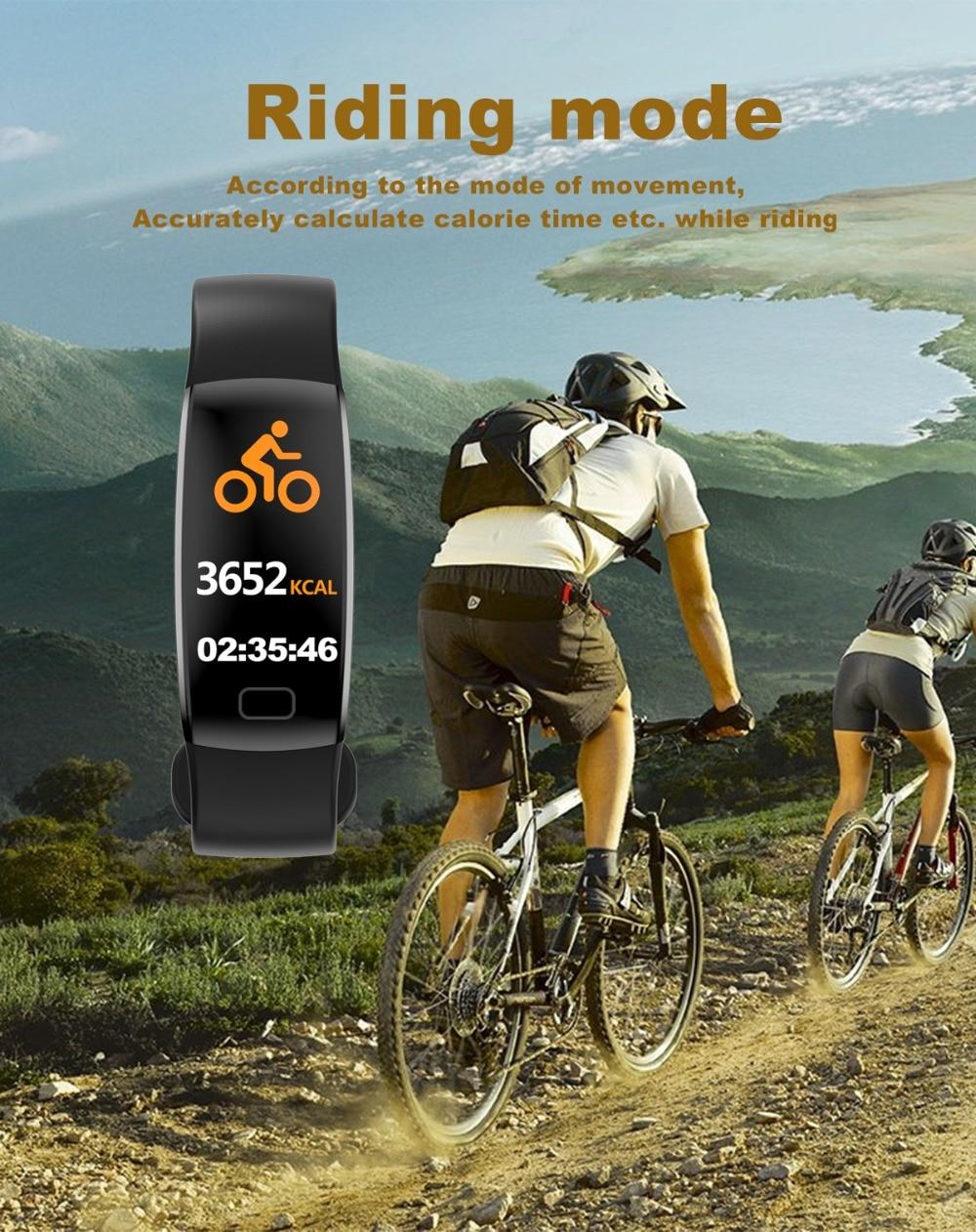 Torntisc F64HR Heart rate smart bracelet IP68 Waterproof Color screen Blood pressure oxygen Fitness tracker Smart band GPS watch (10)
