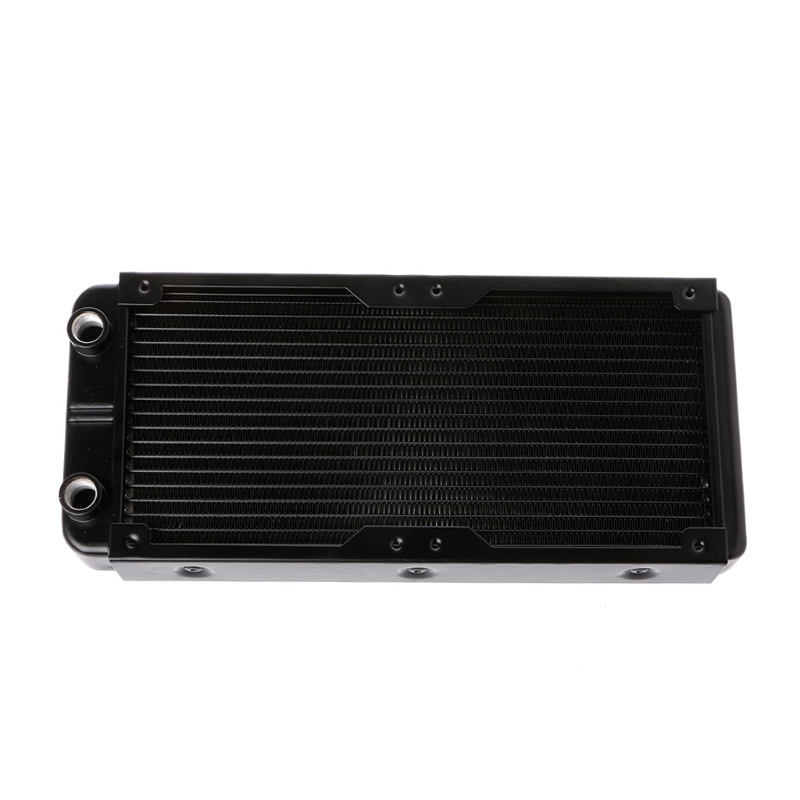 240mm Aluminum Computer Radiator Water Cooler 18 Tube CPU Heat Sink Exchanger - L059 New hot 240mm water cooling radiator g1 4 18 tubes aluminum computer water cooling heat sink for cpu led heatsink heat exchanger