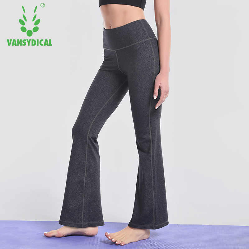 9c9c8969e3 Vansydical Women Yoga Pants Running Leggings Sport Gym Training Flared Pants  Solid High Waist Pants Sexy