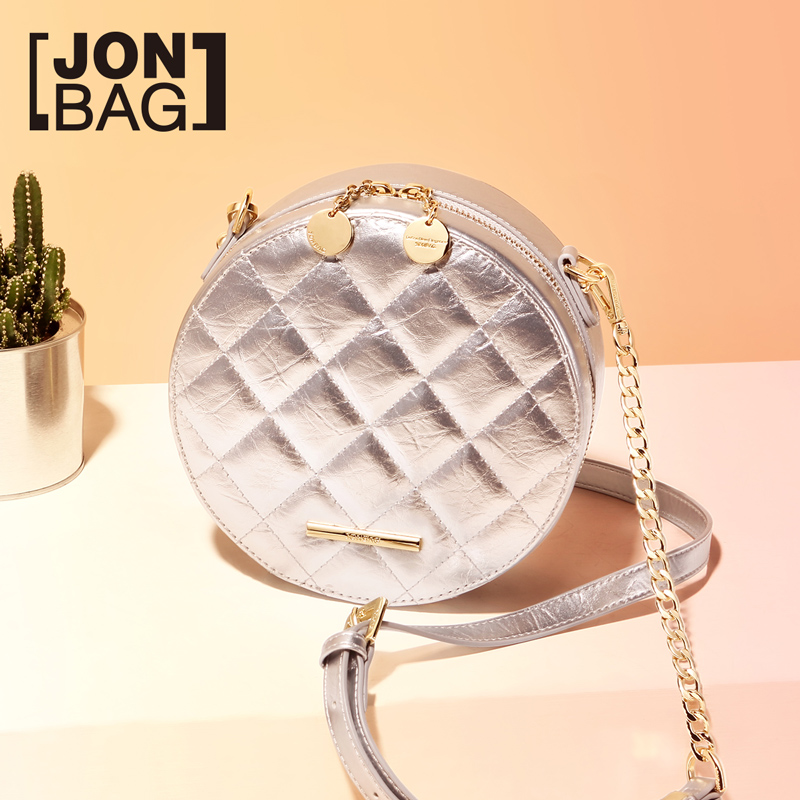 Jonbag маленькая сумка 2019 новая модель куртки с хлопковой подкладкой в Корейском стиле женская сумка Lingge круглый мешок из полиуретана на высоком уровне air один на плечо округлая сумка