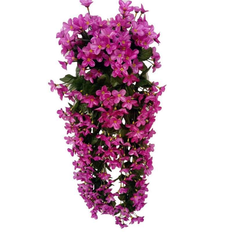 7 цветов на выбор, шелковые искусственные цветы с листьями, шелковые настенные лозы, искусственные фиолетовые цветы для декора балкона VWF2078 - Цвет: 4