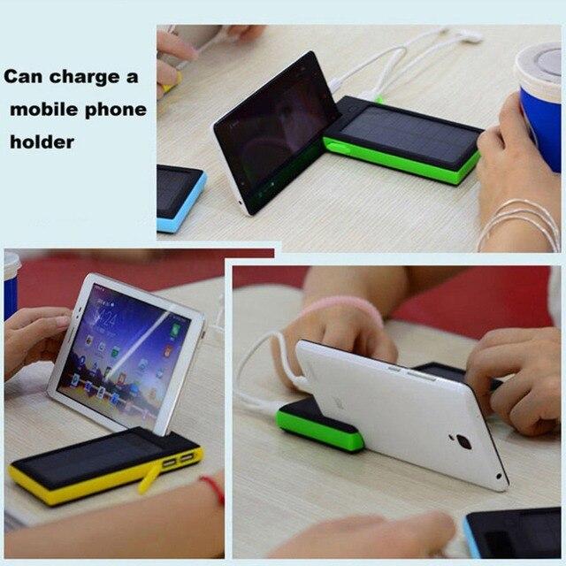 Высокое Качество 12000 мАч Dual USB Solar Power Bank LED Зарядное Устройство Для Мобильного Телефона Pad