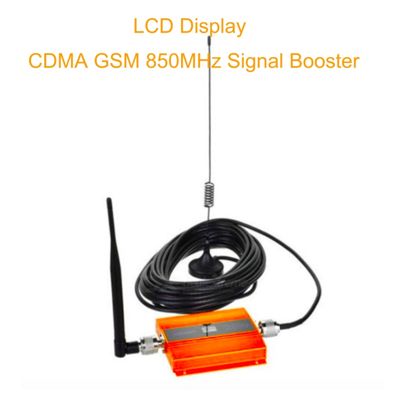 LCD Display Mini GSM Repeater 900MHz Mobile Phone Signal Repeater  850MHz CDMA GSM Cellular Signal Booster Amplifier With