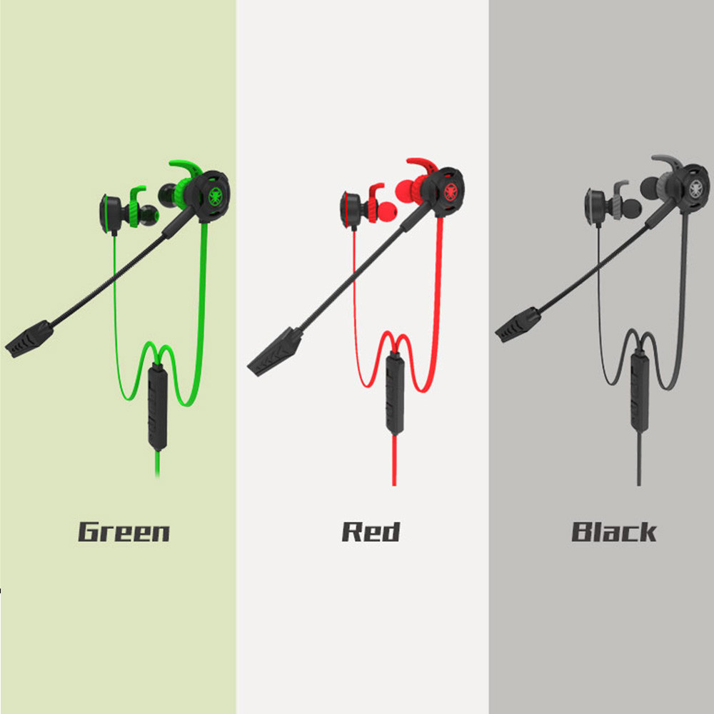 Youbina PC Gaming earphone With Microphone In Ear Bass Active Noise Cancelling ANC sport earphone
