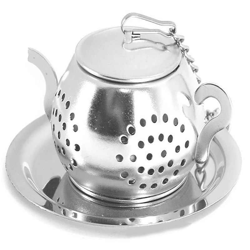1 шт креативный чайник Форма Чай для заварки с подносом Нержавеющаясталь
