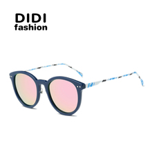 DIDI New Cat Eye Sunglasses Women Polarized Sunglasses Men Driving Mirrors Coating Points Eyewear Male Sun Glasses UV400 W566