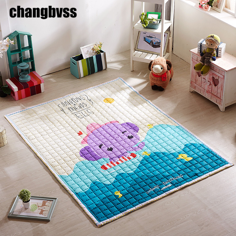 Doux coton bébé ramper tapis jeu tapis pour enfants jouer tapis doux enfant jeu tapis extérieur épaissir bébé ramper tapis