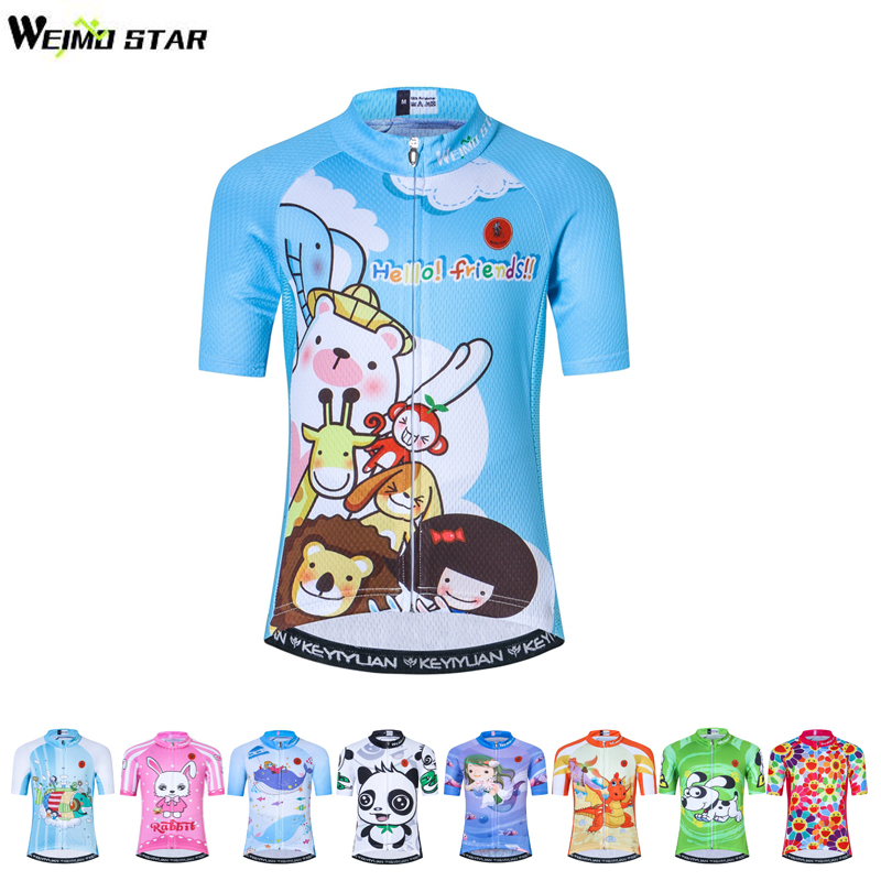 Weimostar Quick Dry Outdoor Kids Bicycle Clothing Children Riding Cycling  Bike Jersey Tops Boys Girls Cycling Wear Short Sleeves-in Cycling Jerseys  from ... ff007f654