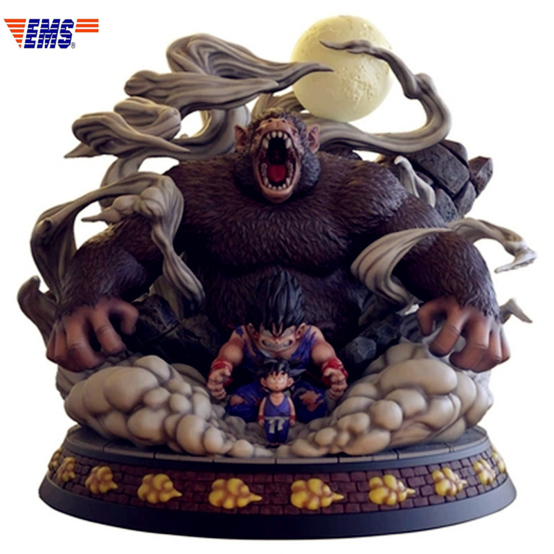 Prévente Dragon Ball Super Saiyan enfance Goku trois changements grands singes résine Statue modèle (période de livraison: 60 jours) X274