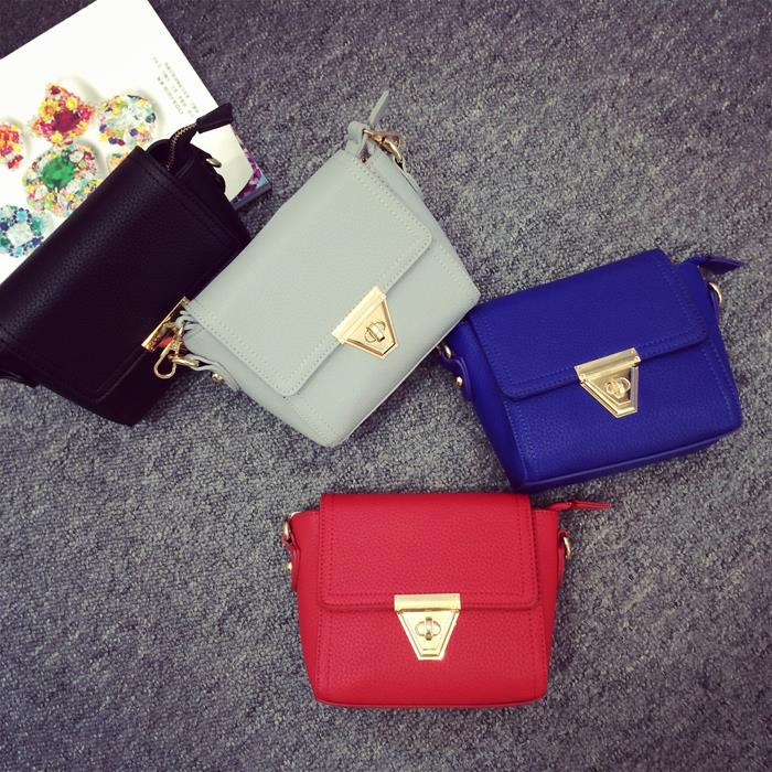2015 women new bags vintage hasp small bag cross body one shoulder bag women retro font