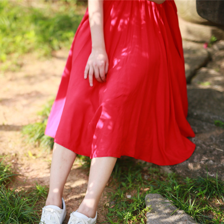 2019 Nuovo Arrivo Di Estate A-line Gonna Ombrello Di Cotone Grande Pendolo Annata Gonna A Pieghe Gonne Lunghe Per Le Donne Vestiti Elegante Nell'Odore