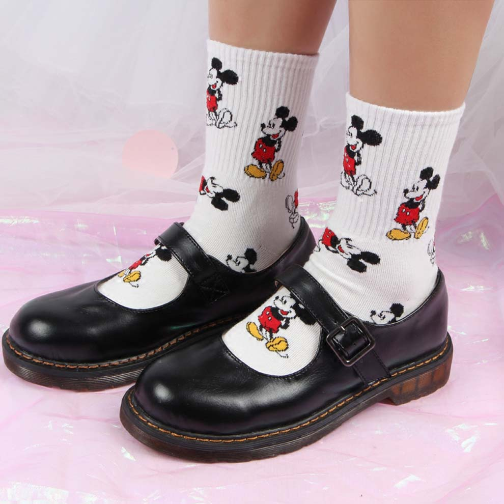 Korean Style Cute Little Mouse   Socks   Fashion Funny Happy Novelty Women   Sock   Autumn Winter Warm Cartoon Calsetines De Mujer Lote