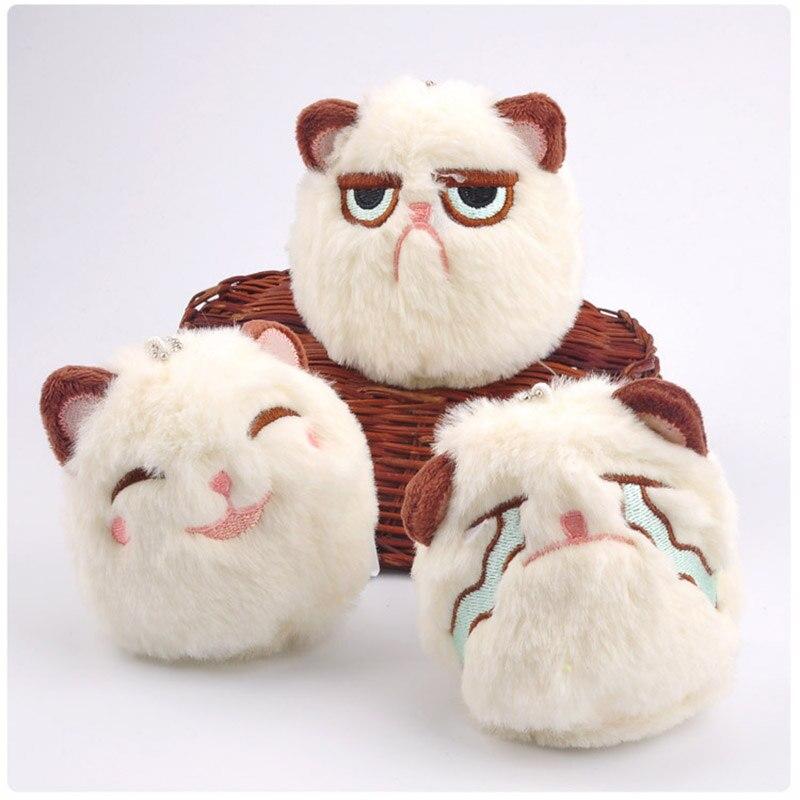 1pcs Cute Expression Cat Plush Toys 3 Styles for Kids Toys RANDOM 10cm