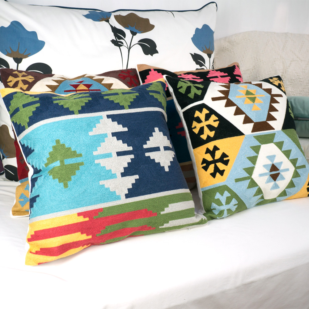 Incredible Us 9 47 19 Off National Kilim Cushion Cover Embroidery Throw Pillow Cover For Sofa Car Chair Cushion Case Decorative 45X45Cm Without Stuffing In Download Free Architecture Designs Rallybritishbridgeorg