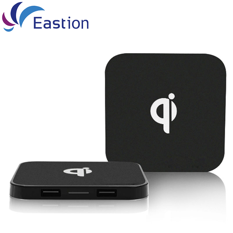 Eastion qi carregador sem fio slim disk adaptador de telefone móvel dispositivo de carregamento para samsung s6 s7 s8 edge plus iphone nexus universal
