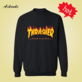 Fire Thrasher Harajuku Sweatshirt Cute  in Trasher Skateboards Mens Hoodies and Sweatshirts Autumn Winter Couples 3xl Aikooki