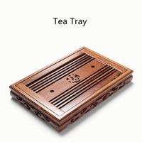 Ebony tea tray chicken wings wooden large tea tray Kung Fu solid wood drainage tea tray Tea Accessories Free shipping